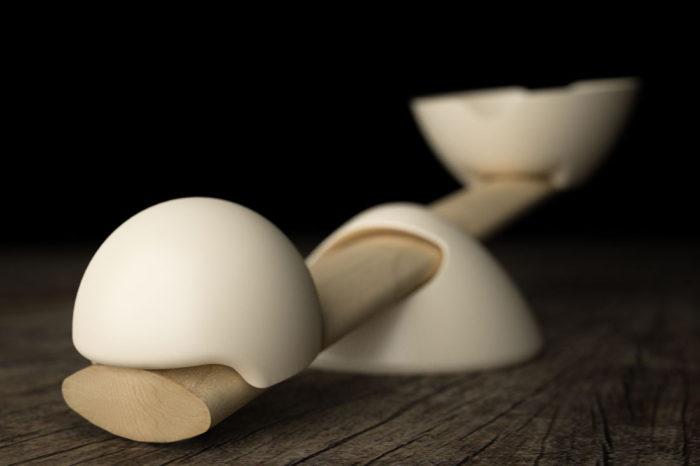 Balancerie, bilancia da cucina manuale in legno e pietra