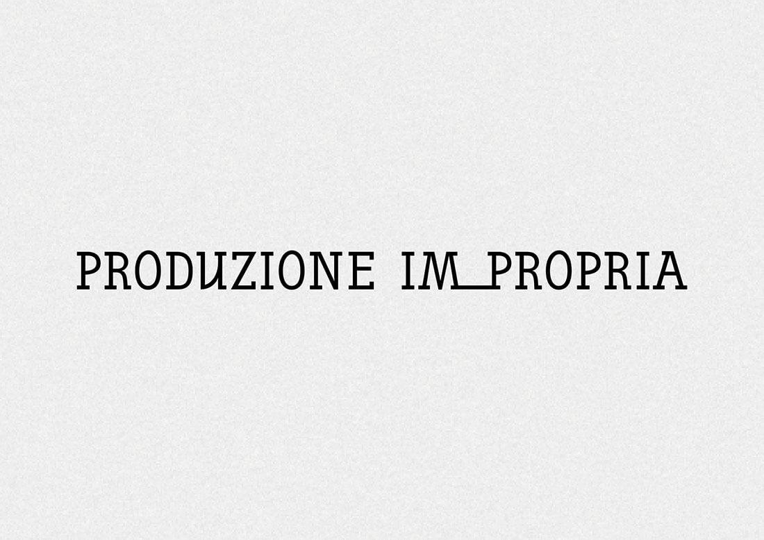 Brand identity, logo per Produzione Impropria