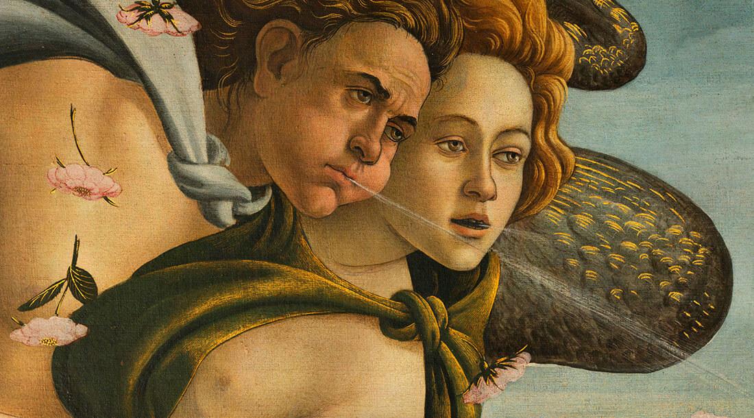 Dettaglio Nascita di Venere di Sandro Botticelli da Google Arts & Culture