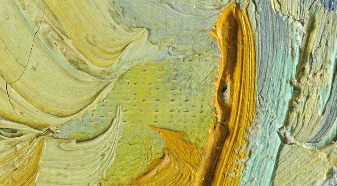 Dettaglio Notte Stellata di Vincent Van Gogh da Google Arts & Culture