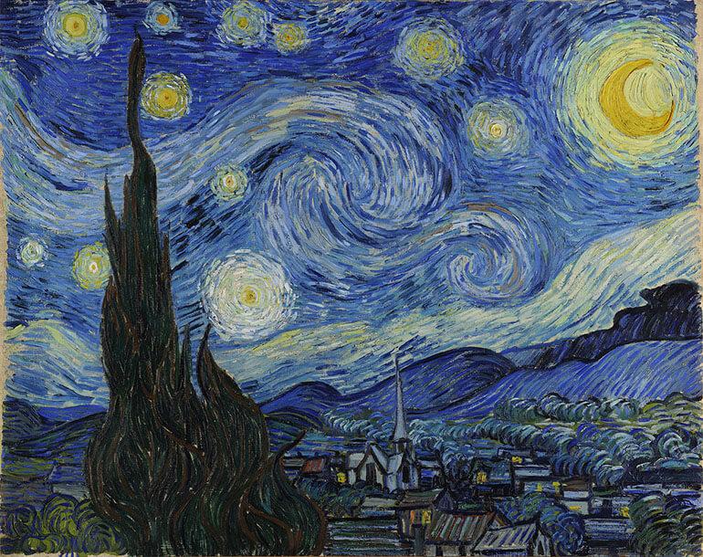 Notte Stellata di Vincent Van Gogh da Google Arts & Culture
