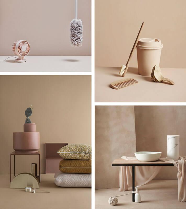 Fotografia monocromo rosa beige