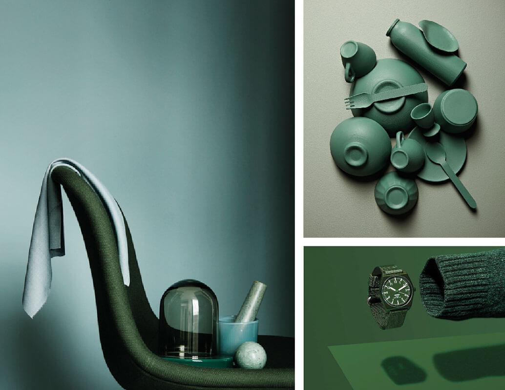 Fotografia monocromo verde