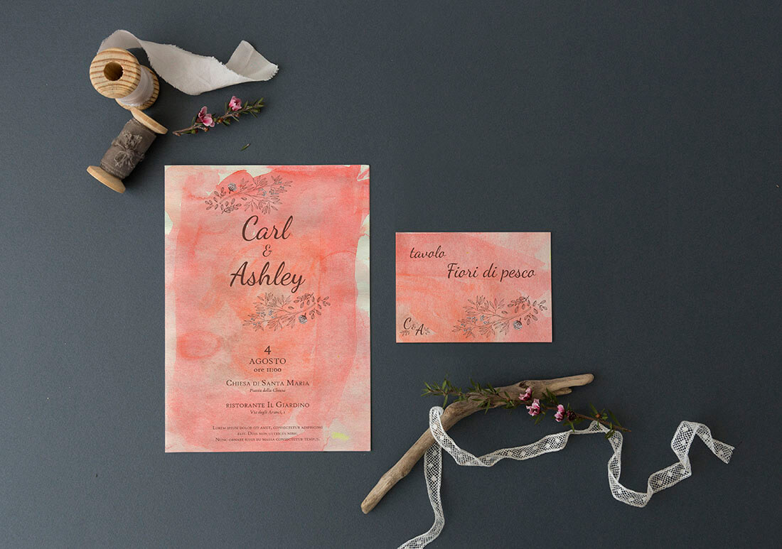 Progetto grafico per wedding stationery by Marianna Milione designer
