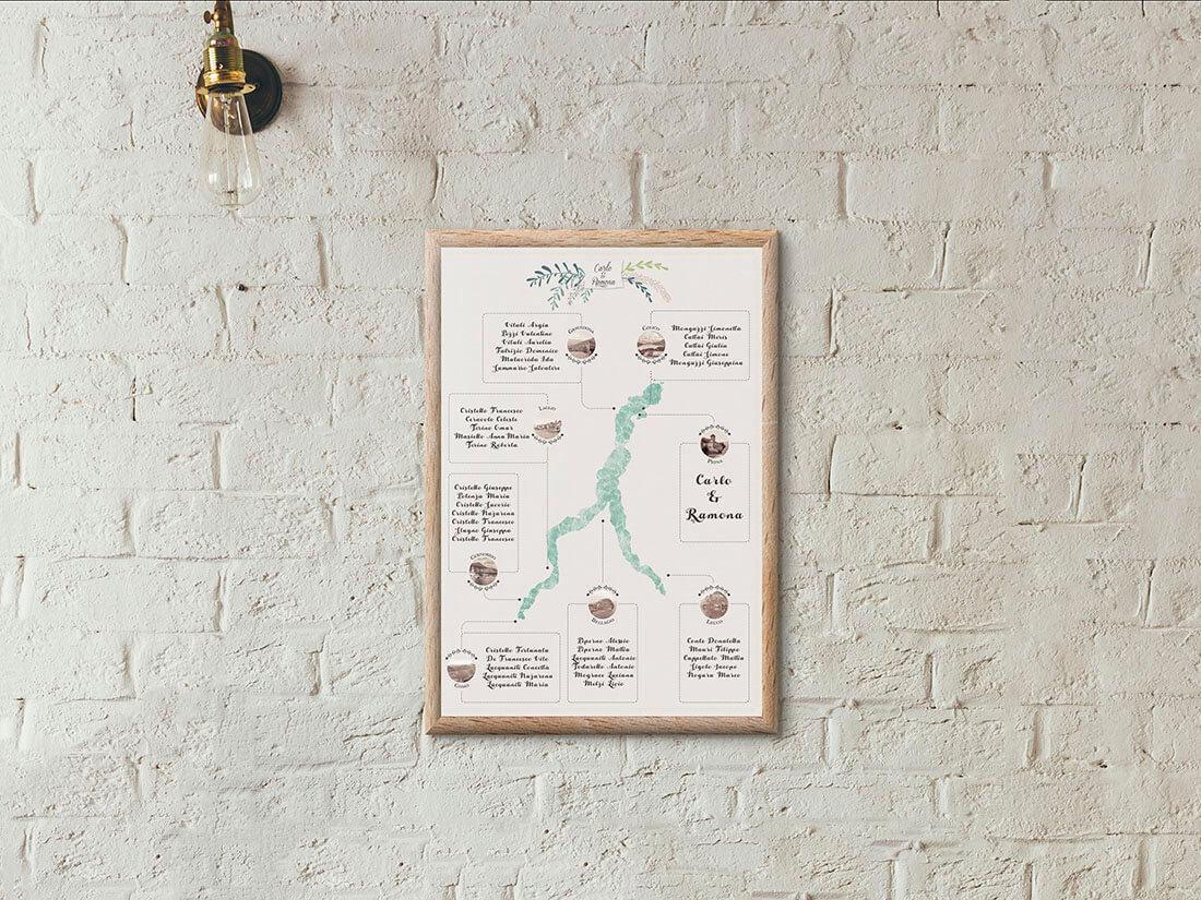 Progetto grafico per wedding stationery by Marianna Milione designer