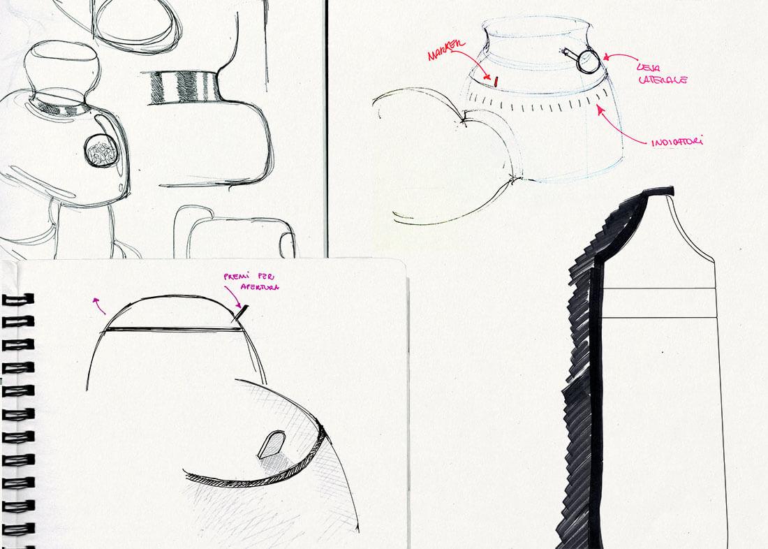 Schizzi di piccoli elettrodomestici Smeg by Marianna Milione designer