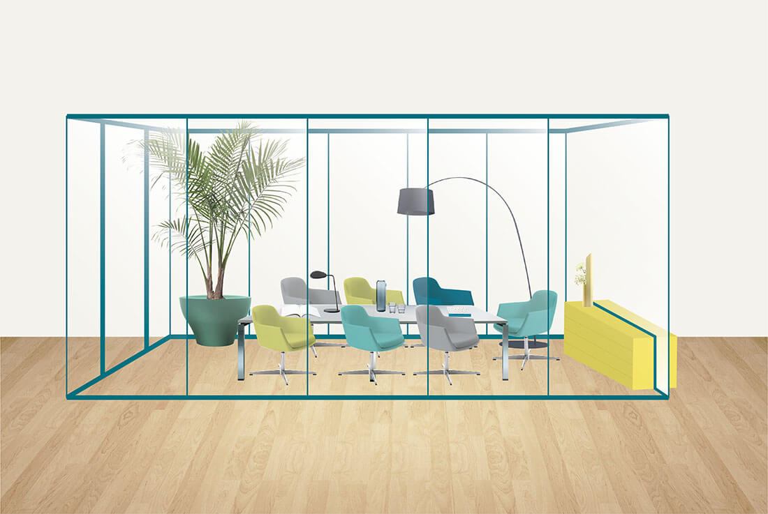Colorful styling per conference room by Marianna Milione designer