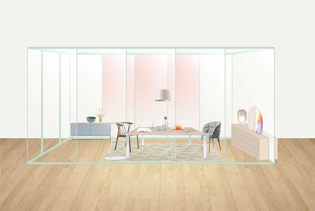 Pastel styling per creative office by Marianna Milione designer