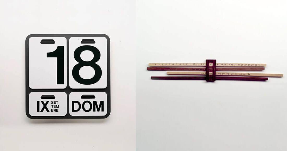 Calendari di design. Formosa e Calendario Bilancia design Enzo Mari per Danese