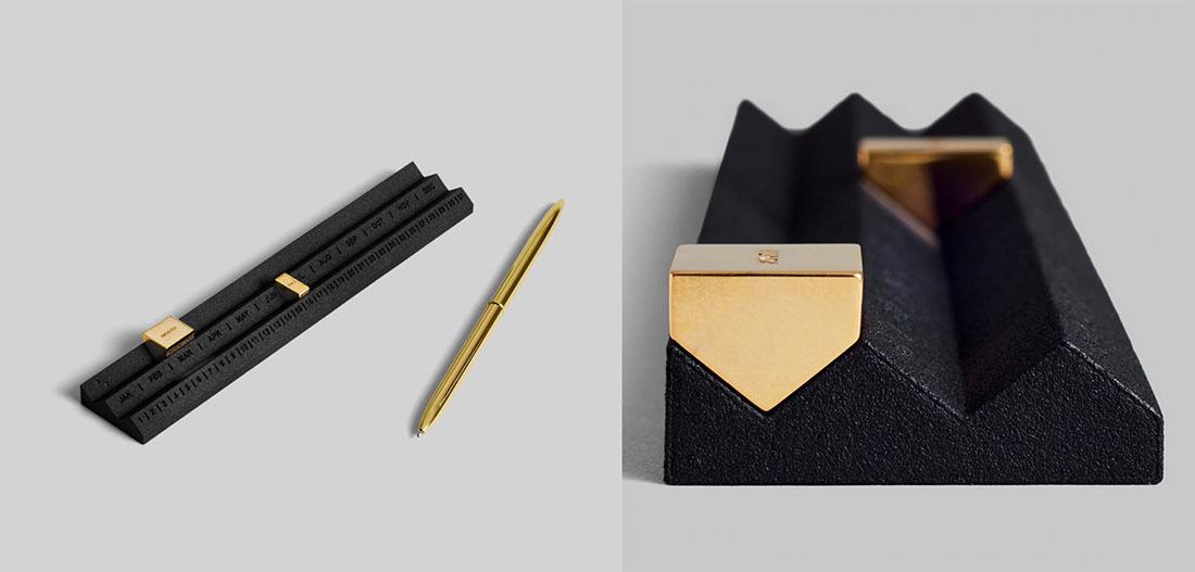 Calendari di design. Perpetuum Calendar nero design Studio Yonoh per Othr