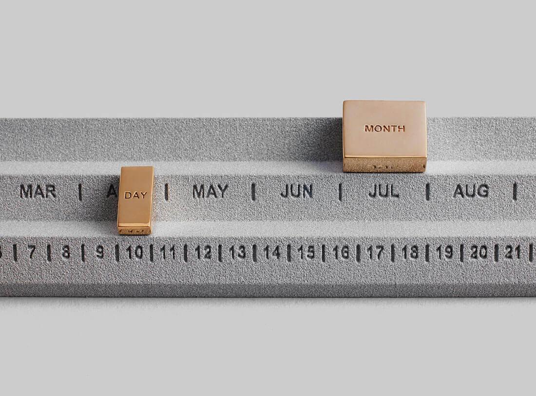 Calendari di design. Perpetuum Calendar design Studio Yonoh per Othr