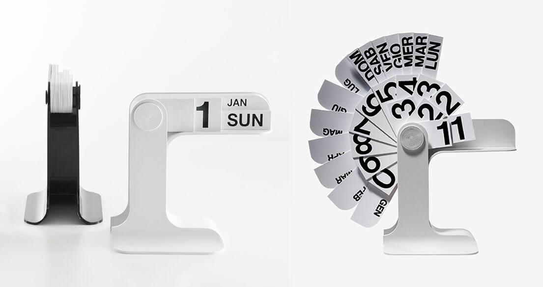 Calendari di design. Timor design Enzo Mari per Danese