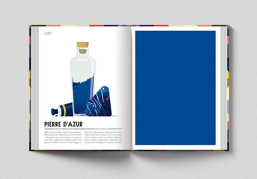 Colorama, libro sui colori. Pagina colore blu lapislazzuli