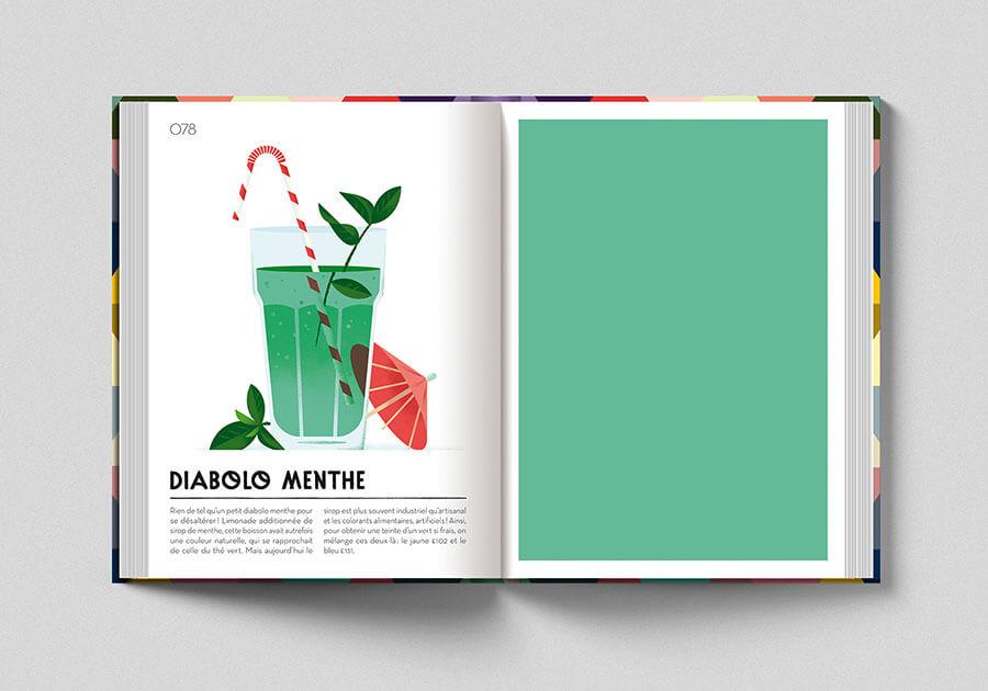 Colorama, libro sui colori. Pagina colore verde limonata alla menta