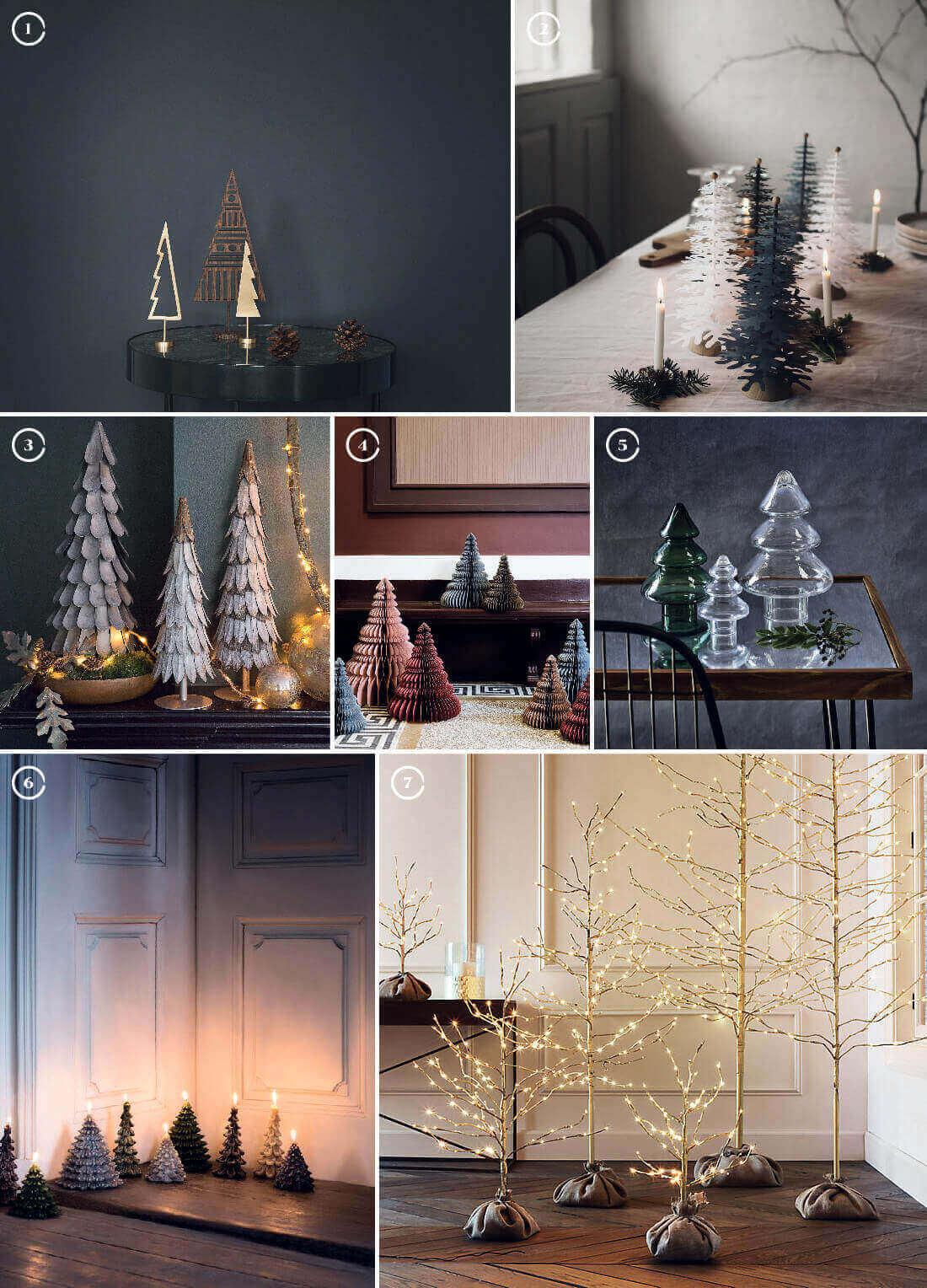 Decorazioni natalizie: alberi di natale in tante forme e materiali