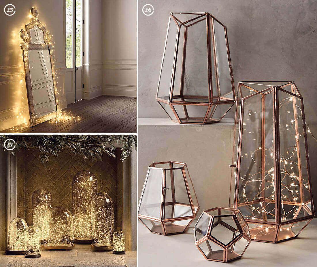 Decorazioni natalizie: luci e lanterne