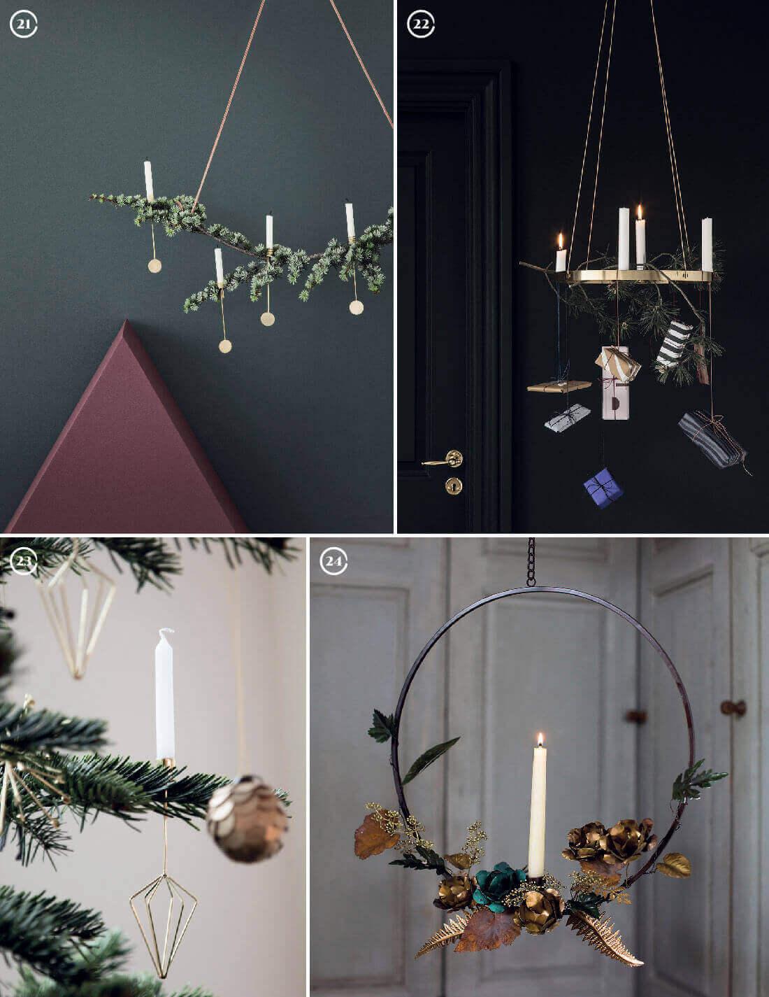 Decorazioni natalizie: portacandele per l'albero e da parete