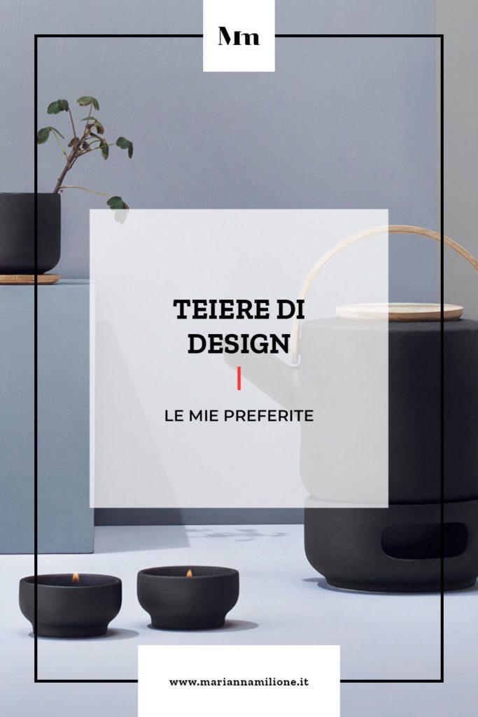 Teiere di design. Teiera Theo design di Francis Cayouette Stelton. Dal blog di Marianna Milione