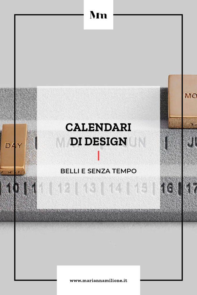 Calendari di design. Dal blog di Marianna Milione