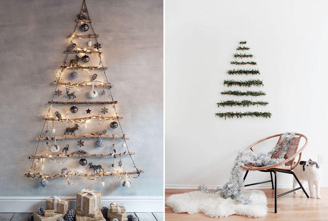 Idee fai da te per natale, albero da parete. Fonte Pinterest, Almost make perfect