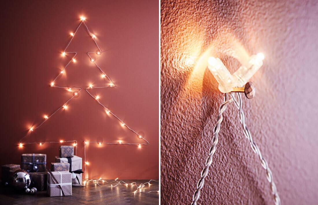 Idee fai da te per natale, albero luminoso. Fonte IKEA