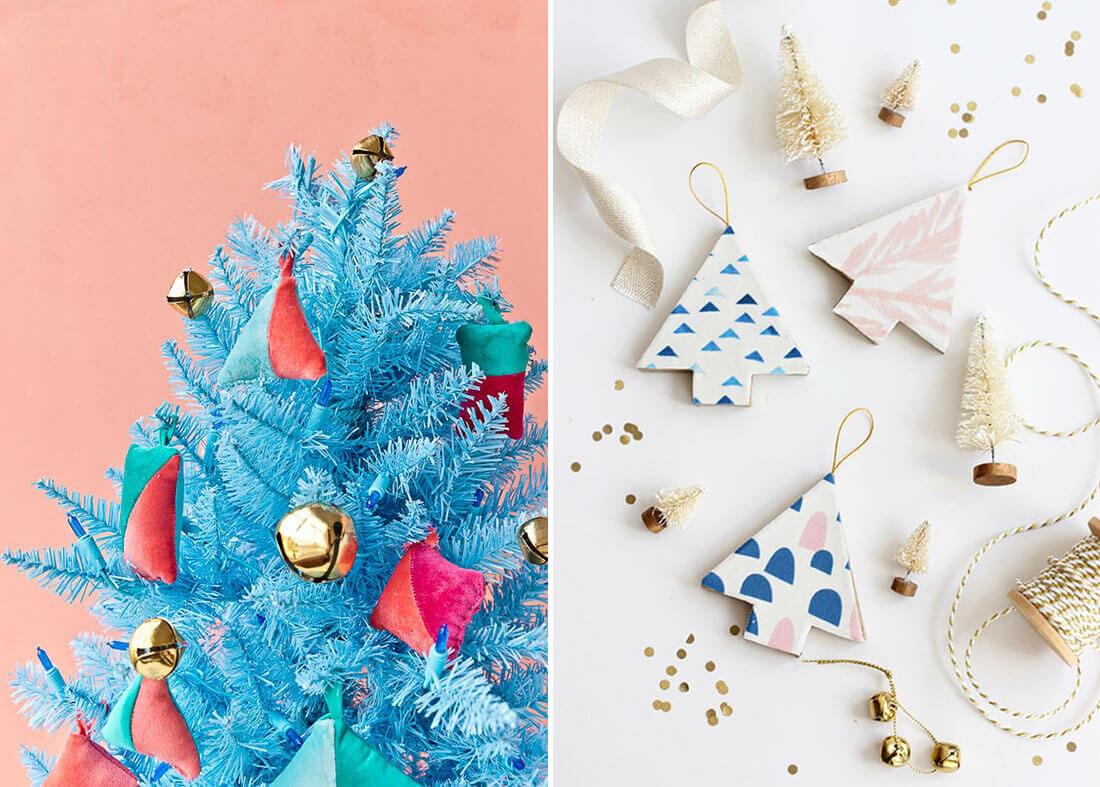 Idee fai da te per natale, albero da parete. Fonte Paper and Stitch, Alice and Lois
