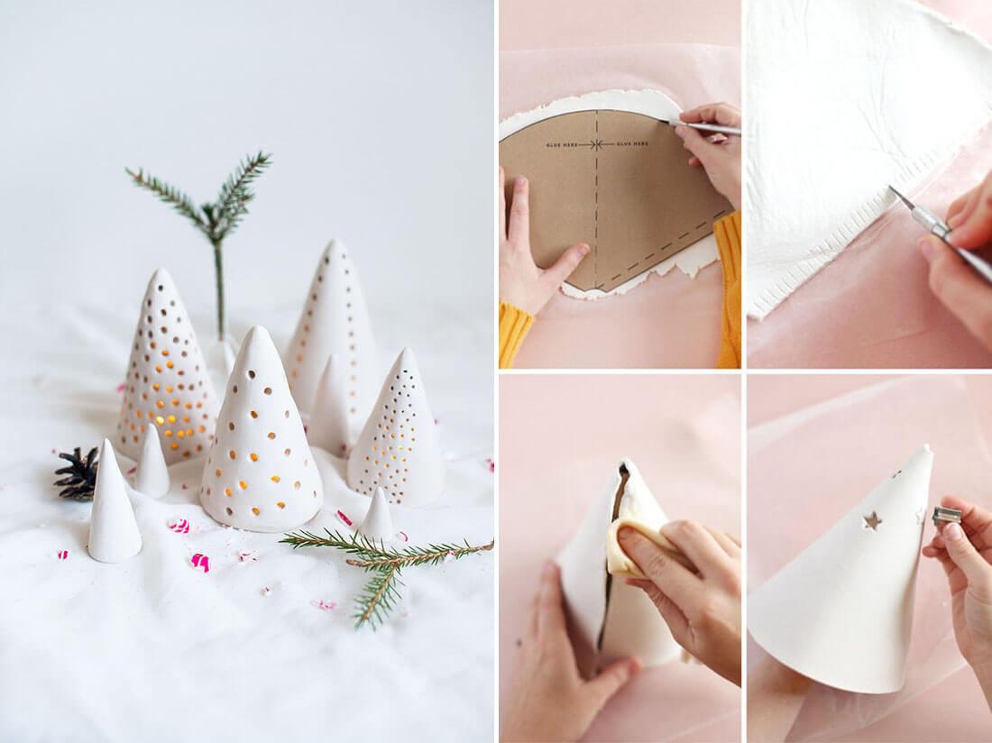 Idee fai da te per natale, lanterne di pasta modellabile. Fonte Atilio, Deavita