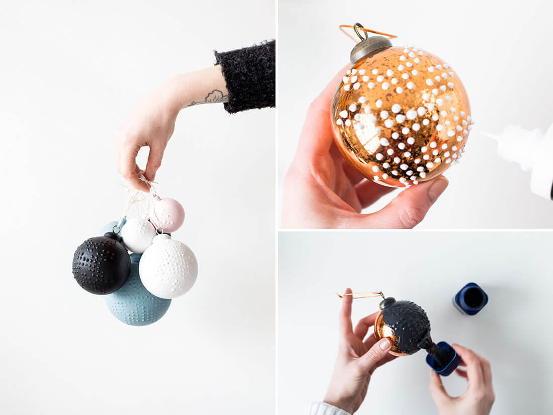 Idee fai da te per natale, palline di natale personalizzate. Fonte Fall for DIY