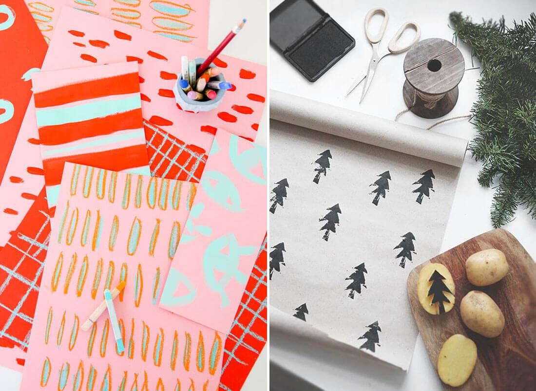 Idee fai da te per natale, carte regalo personalizzate. Fonte Paper and Stitch, Pinterest