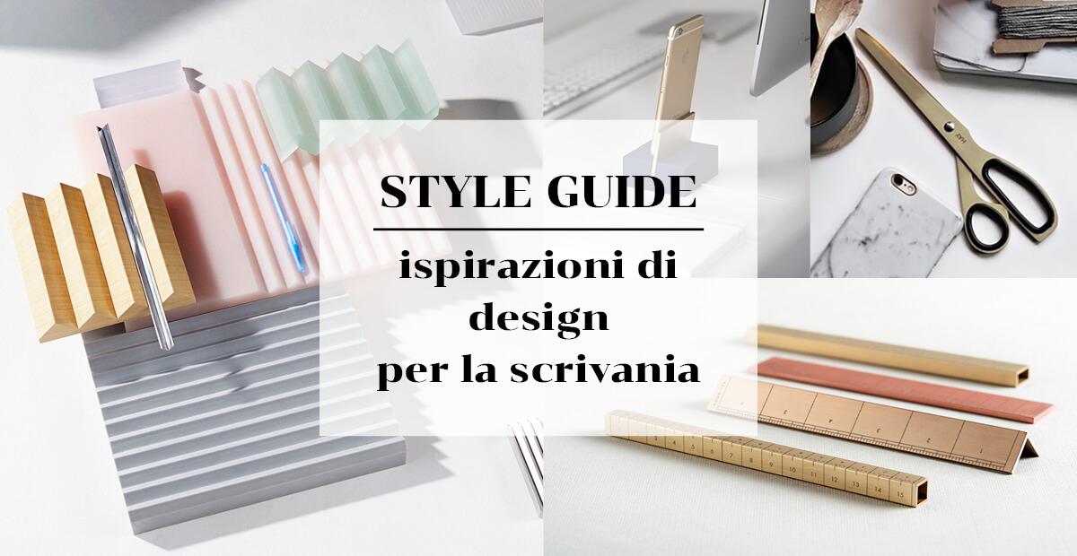Ispirazioni di design per la scrivania. Style guide