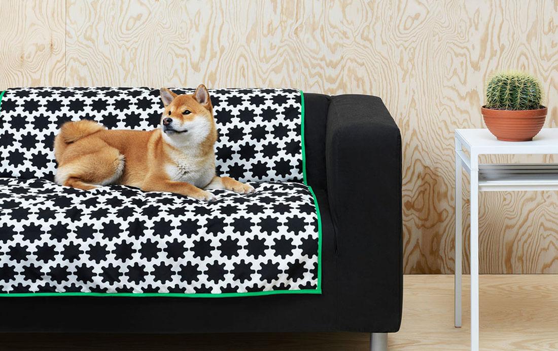 La nuova collezione Lurvig IKEA per cani e gatti, tappeto
