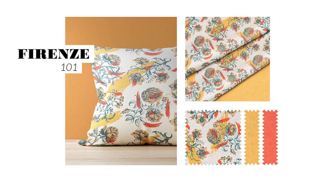 Pattern Nuovo Rinascimento, collezione Firenze 101, realizzato per il concorso Textile designer di Ambienti Roma. Design by Marianna Milione