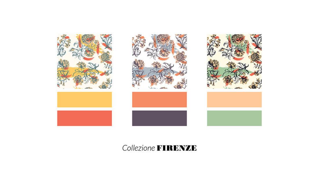 Pattern Nuovo Rinascimento, collezione Firenze, realizzato per il concorso Textile designer di Ambienti Roma. Design by Marianna Milione