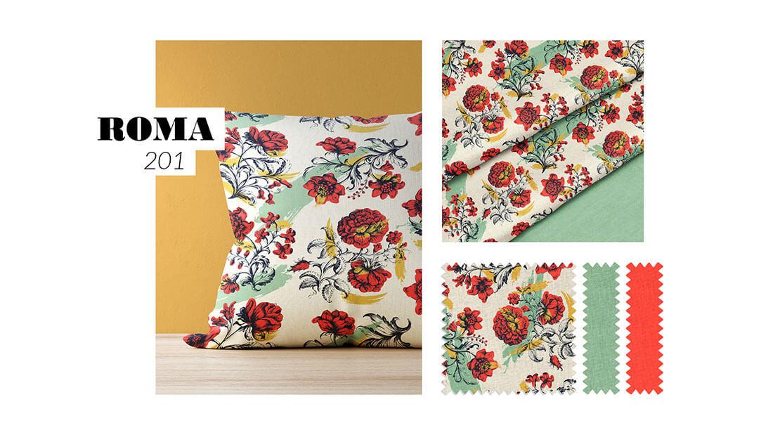 Pattern Nuovo Rinascimento, collezione Roma 201, realizzato per il concorso Textile designer di Ambienti Roma. Design by Marianna Milione