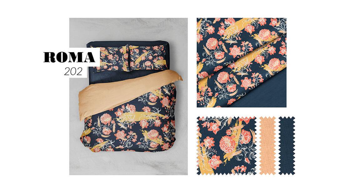 Pattern Nuovo Rinascimento, collezione Roma 202, realizzato per il concorso Textile designer di Ambienti Roma. Design by Marianna Milione