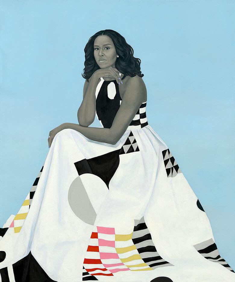 I ritratti presidenziali di Michelle e Barack Obama. Foto dell'artista Amy Sherald