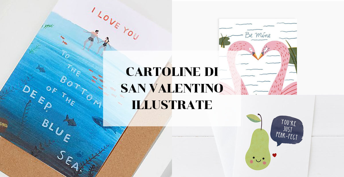Cartoline di San Valentino illustrate