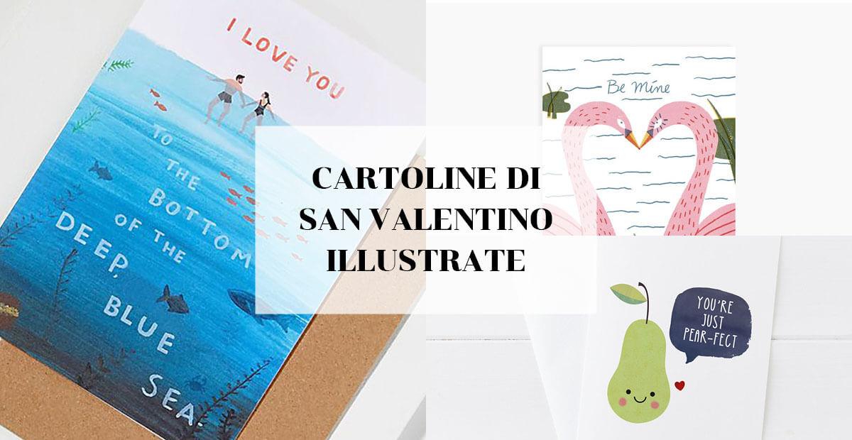 Cartoline di San Valentino illustrate