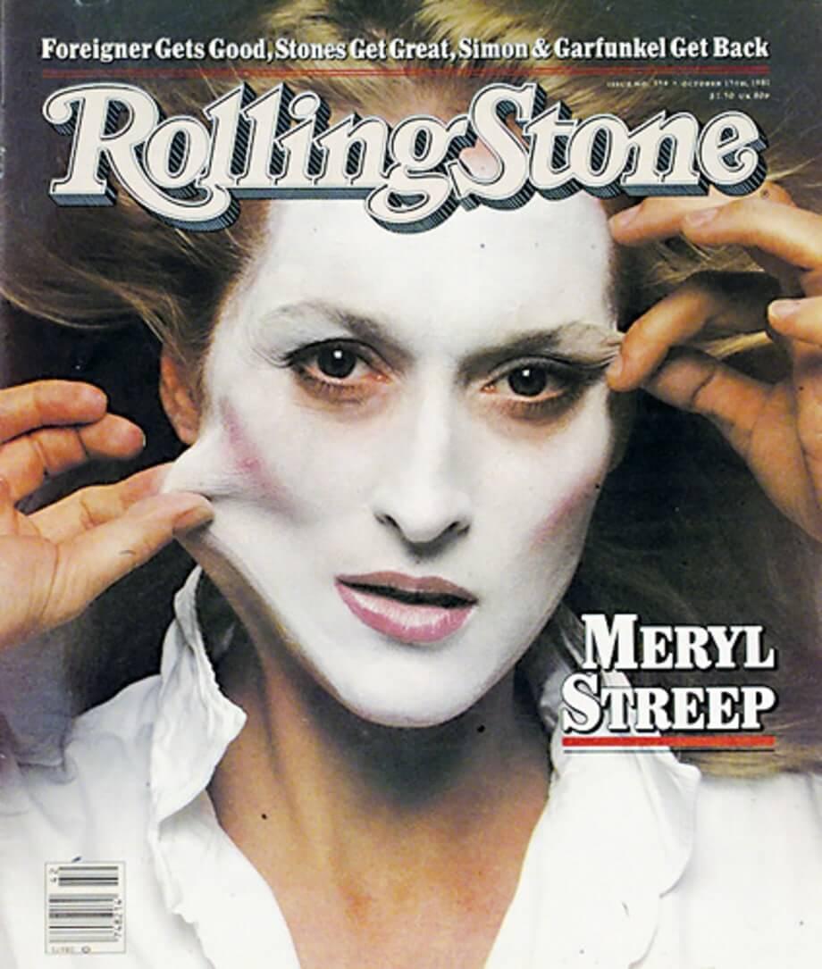 Be Woman Be Creative Annie Leibovitz fotografa, cover per Rolling Stone con Meryl Streep
