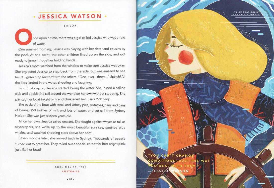 Be Woman Be Creative Elena Favilli e Francesca Cavallo autrici del libro Storie della buonanotte per Bambine Ribelli, illustrazione di Kathrin Honesta