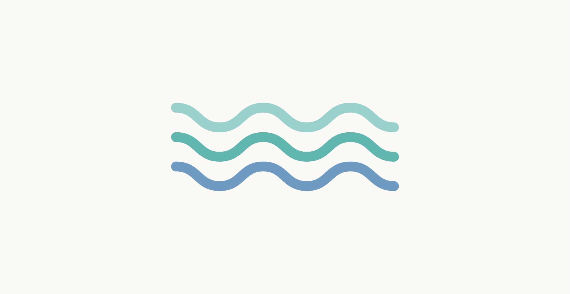 Moodboard del giorno: acqua. Palette colori: verde acqua, blu. Dal blog di Marianna Milione