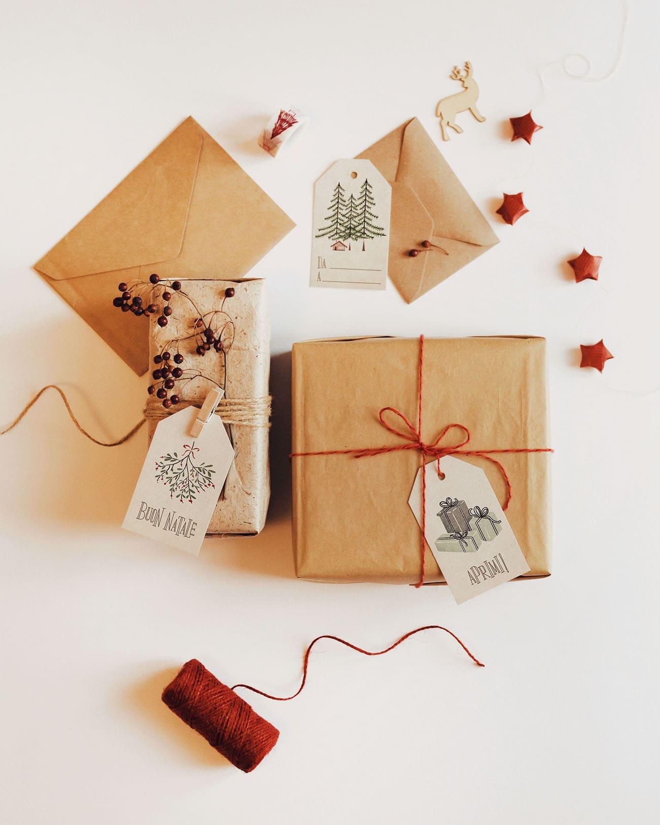 Etichette Per Regali Di Natale Da Stampare.Etichette Di Natale Illustrate Da Stampare Marianna Milione