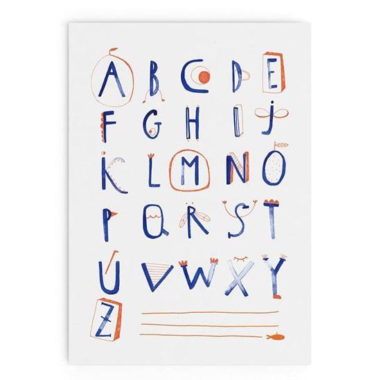 """Regali di Natale illustrati: """"Alphabet Poster"""" di Little Pine Alice. Dal blog di Marianna Milione"""