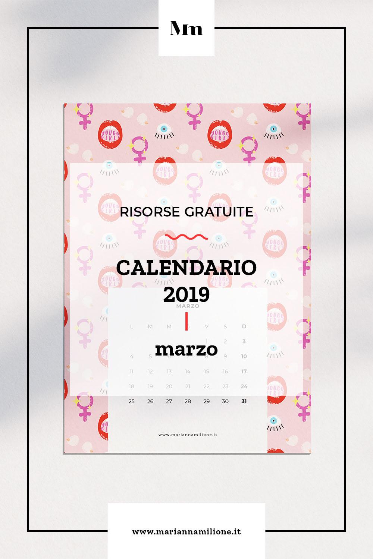 Calendario Di Marzo.Marzo Il Calendario Del Mese Marianna Milione