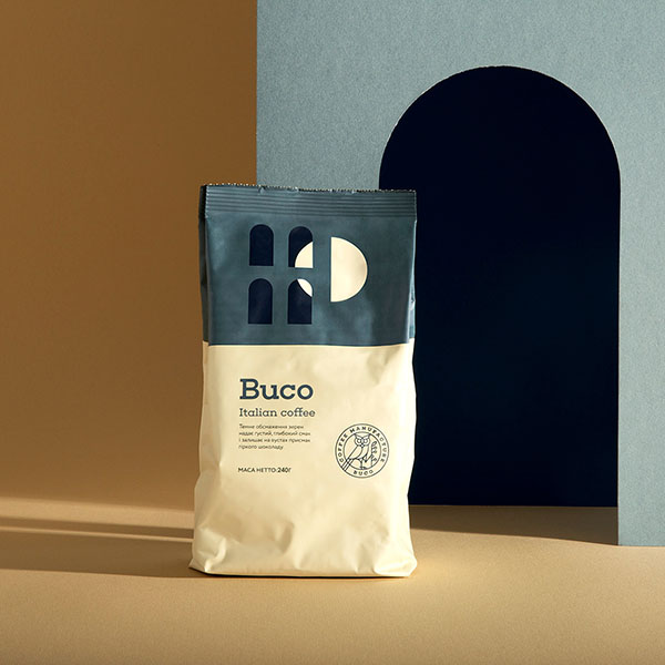 Packaging del caffè Buco Coffee progettato dallo studio Molto Bureau. Dal blog di Marianna Milione
