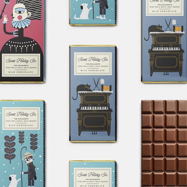 Packaging del cioccolato progettato dallo studio Polkadot Design. Dal blog di Marianna Milione