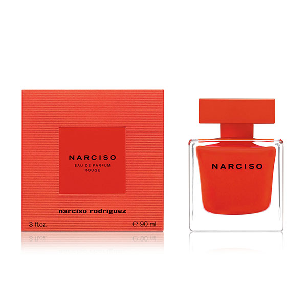 Packaging del profumo Rouge Narciso Rodriguez. Dal blog di Marianna Milione