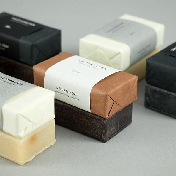 Packaging delle saponette Thisispaper. Dal blog di Marianna Milione