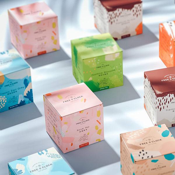 Packaging del tè Free O'Clock progettato dallo studio Sergio Laskin. Dal blog di Marianna Milione