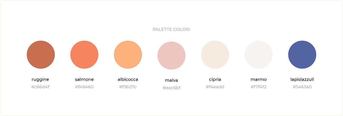Come nasce l'identità grafica di un'attività? Scopri la creazione della style guide e del logo: palette colori. Dal blog di Marianna Milione